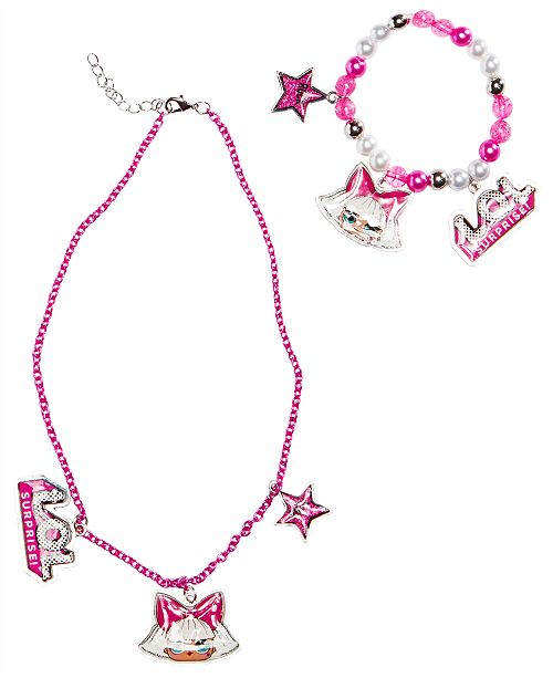 Frozen On the Verge Little & Big Girls LOL Charm Necklace & Bracelet Set