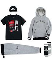 993f49b9548 Nike Little Boys Snapback Cap, Fleece Hoodie, Graphic-Print T-Shirt,
