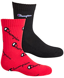 Champion Little & Big Boys 2-Pk. Logo Crew Socks