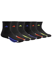 adidas Little & Big Boys 6-Pack Vertical Stripe Athletic Socks