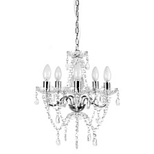 Tadpoles 5 Bulb Genuine Crystal Grand Chandelier