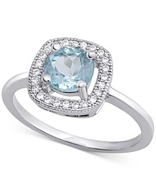 Blue Topaz (1/2 ct. t.w.) & Cubic Zirconia Ring in Sterling Silver (Also Available in Imitation Opal & Rhodolite Garnet)