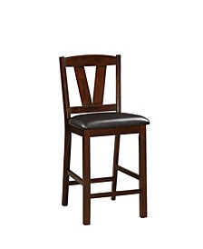 Rubber Wood Counter Height Armless Chair, Set of 2