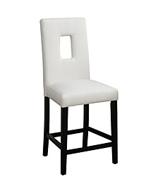 Wooden Counter High Chairs with Cutout Back, Set of 2