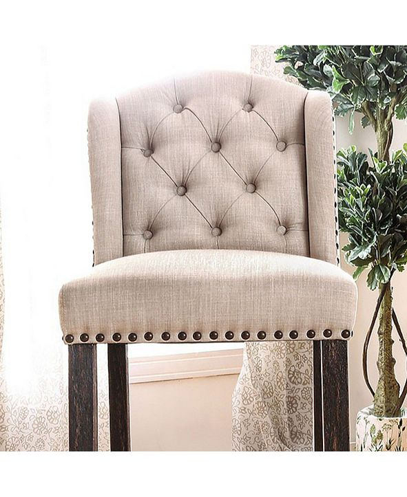 Benzara Rustic Bar Chair, Set of 2
