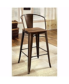 Industrial Style Counter Height Chair, Set of 2