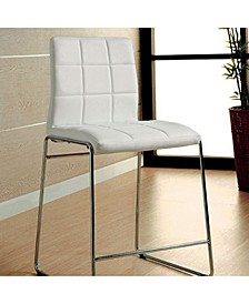 Contemporary Counter Height Chair, Set of 2