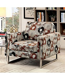 Benzara Transitional Style Pattern Chair with Fabric Without Pillow