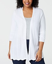 b57951060e Charter Club Plus Size Open-Front Cardigan Sweater, Created for Macy's
