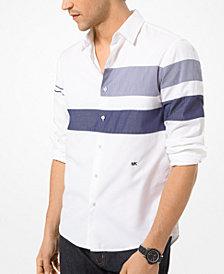 Michael Kors Men's Slim-Fit Colorblocked Stripe Shirt