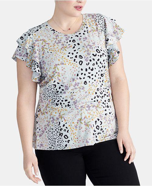 4be051fe285e8 ... RACHEL Rachel Roy Plus Size Ruffle-Sleeve Top