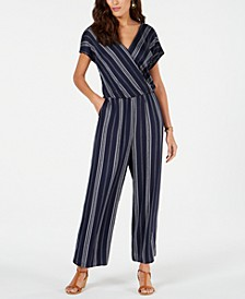 Petite Printed Blouson Jumpsuit, Created for Macy's