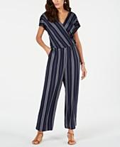 c4e461437c89 Style   Co Petite Printed Blouson Jumpsuit