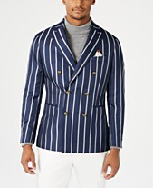 b20601644f Tallia Orange Men s Slim-Fit Navy Stripe Double Breasted Dinner Jacket