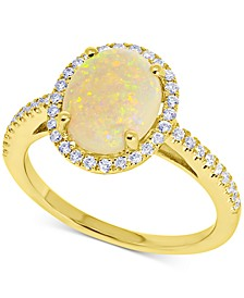 Opal (1-3/8 ct. t.w.) & Diamond (1/3 ct. t.w.) Statement Ring in 14k Gold