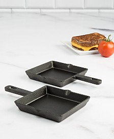 "Goodful 2-Pc. Mini Cast Iron 6"" Griddle Set, Created for Macy's"