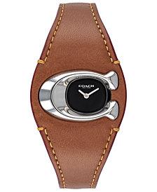 COACH Women's Lexington Saddle Leather Strap Watch 33mm