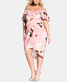 City Chic Plus Size English Rose Dress