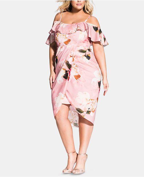 City Chic Plus Size English Rose Dress & Reviews - Dresses ...