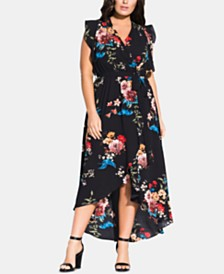 City Chic's Plus Size Floral Avery Maxi Dress