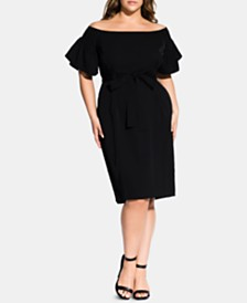 2003f635a89 City Chic Trendy Plus Size Off-The-Shoulder Dress