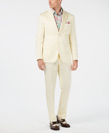 Tallia Orange Men's Slim-Fit Light Yellow Sateen Suit
