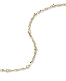 Giani Bernini 18K Gold over Sterling Silver Ankle Bracelet, Chain Anklet