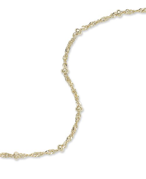 gold bracelet sterling ankle ip over triple beaded strand anklet in silver