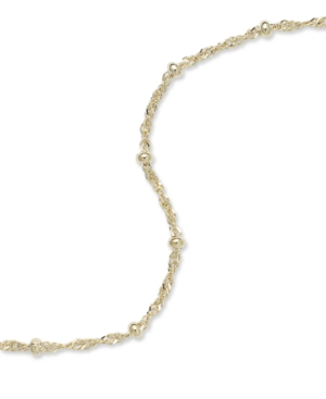 Giani Bernini 24k Gold over Sterling Silver Anklet, Chain Anklet