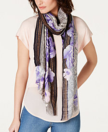 I.N.C. Python-Print Rose Soft Wrap, Created for Macy's