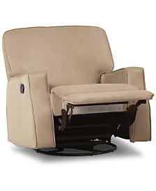 Caleb Nursery Recliner Glider Swivel Chair, Quick Ship