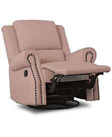Dylan Nursery Recliner Glider Swivel Chair, Quick Ship