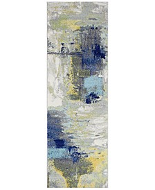 "Medley 5574A Ivory/Grey 2'6"" x 8' Runner Area Rug"