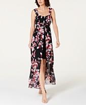 9d76fd28101 Connected Floral-Print High-Low Maxi Dress
