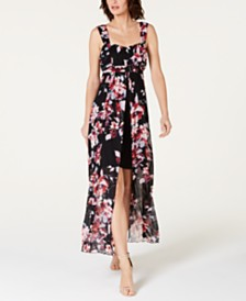e62593e27a1 Connected Floral-Print High-Low Maxi Dress