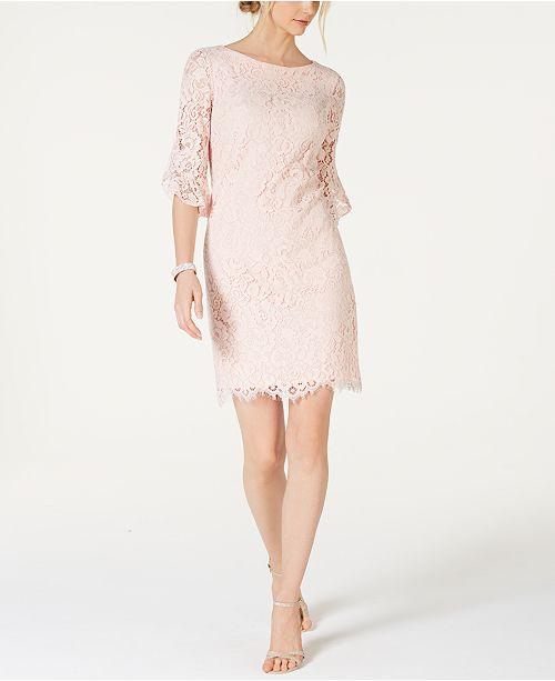 Jessica Howard Lace Bell-Sleeve Dress
