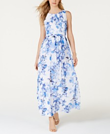 Jessica Howard Floral-Print Maxi Dress