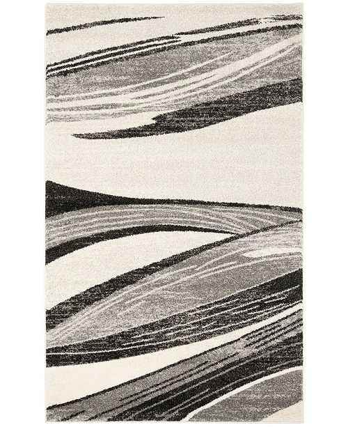 Safavieh Retro Light Gray and Ivory 6' x 9' Area Rug