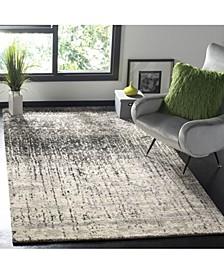 Retro Black and Light Gray 10' x 14' Area Rug