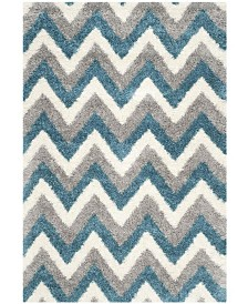 "Safavieh Shag Kids Ivory and Blue 5'3"" x 7'6"" Area Rug"