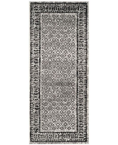 "Safavieh Adirondack Ivory and Silver 2'6"" x 8' Runner Area Rug"