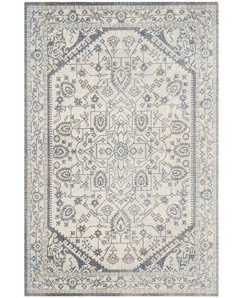 "Safavieh Patina Light Gray and Blue 6'7"" x 9' Area Rug"