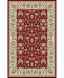Lyndhurst Red and Ivory 10' x 14' Area Rug