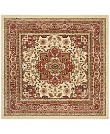 Lyndhurst Ivory and Rust 10' x 10' Square Area Rug
