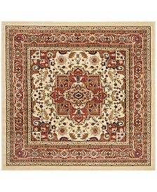 Safavieh Lyndhurst Ivory and Rust 10' x 10' Square Area Rug
