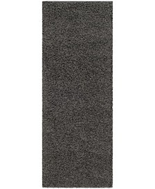 "Athens Dark Grey 2'3"" x 6' Runner Area Rug"