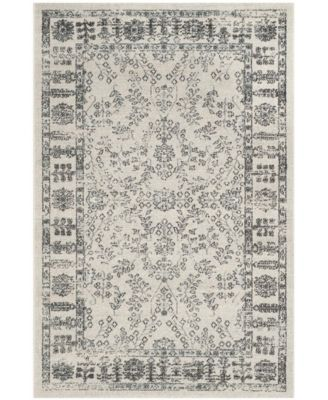 Carmel Beige and Blue 4' x 6' Area Rug