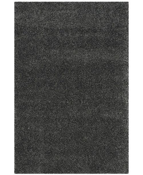 "Safavieh Santa Monica Shag Dark Gray 5'3"" X 7'6"" Area Rug"