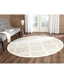 Safavieh Amherst Light Gray and Beige 9' x 9' Round Area Rug