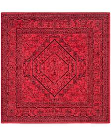 Safavieh Adirondack Red and Black 4' x 4' Square Area Rug